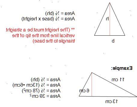 Hvordan regne overflate av trekant